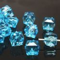 Beads, Imitation Crystal beads, Acrylic, blue, Faceted Cubes, 8mm x 8mm, 12g, 50 Beads, (SLZ0379)